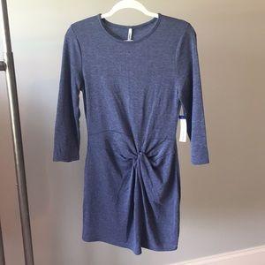 NEW flattering blue dress